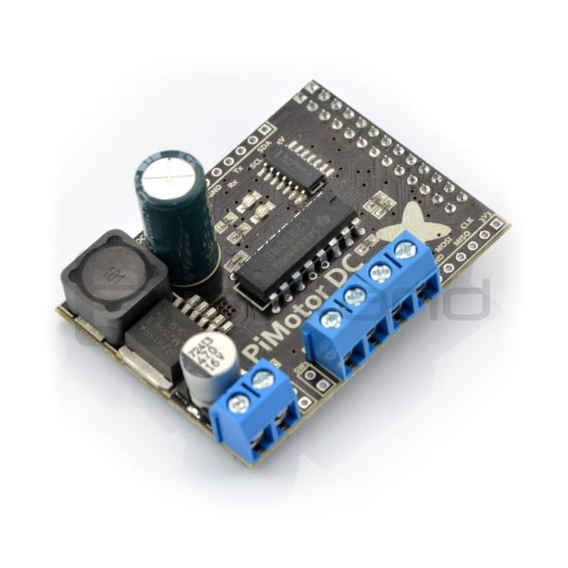 PiMotor - dwukanałowy sterownik silników - nakładka do Raspberry Pi