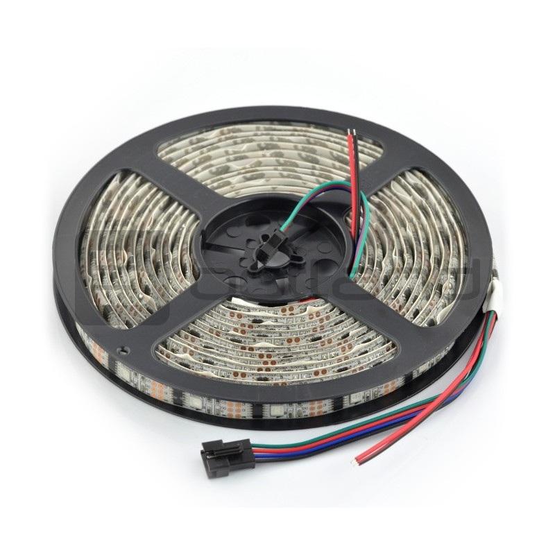 Pasek LED RGB WS2801 IP65 32 LED/m, 10,8W/m, 12V - 5m
