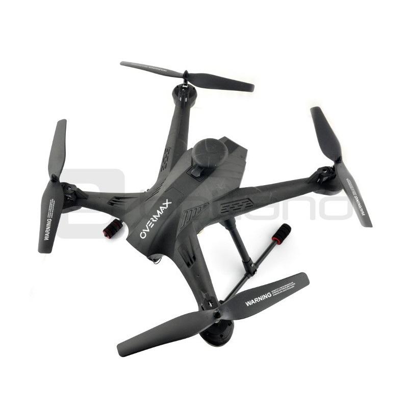 Dron quadrocopter OverMax X-Bee drone 5.2 WiFi 2.4GHz z kamerą FPV - 62cm + ekran + 2 dodatkowe akumulatory