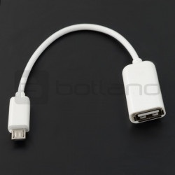 Adapter usb - microusb biały otg