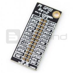 Nakładka informacyjna GPIO dla Rapsberry Pi A /B