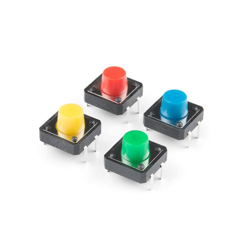 Sparkfun - przyciski Tact Switch 12x12mm - wielokolorowe - 4szt.