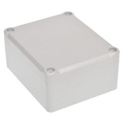 Obudowa plastikowa Kradex Z54J ABS z uszczelką i mosiężnymi tulejkami IP65 - 89x75x41mm jasna