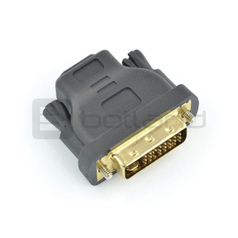 Przejściówka HDMI (gniazdo) - DVI-I (wtyk)