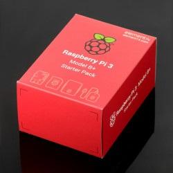 Zestaw startowy Raspberry Pi 3 B+ WiFi + czerwono-biała obudowa + oryginalny zasilacz + karta microSD
