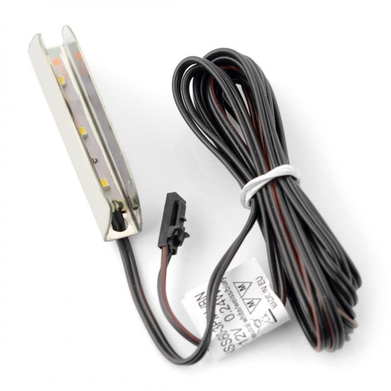 Oświetlenie LED do półek NSS60 - 3diody, biały-zimny - 12V / 0.24W - stal nierdzewna