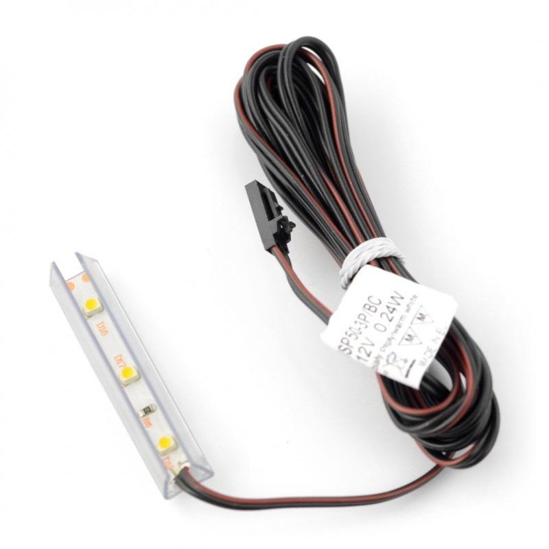 Oświetlenie LED do półek NSP-50 - 3diody, biały-ciepły - 12V / 0.24W