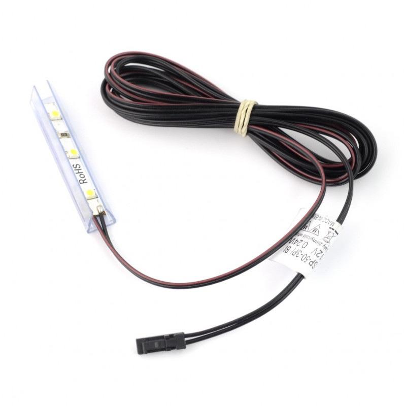 Oświetlenie LED do półek NSP-50 - 3diody, czerwony - 12V / 0.24W