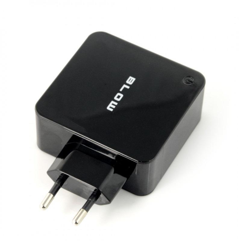 Zasilacz Blow 3x USB 5V / 7,2A - czarny