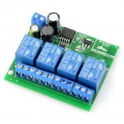 Moduł przekaźników 4 kanały + Bluetooth 4.0 BLE - styki 10A/250V - cewka 5V