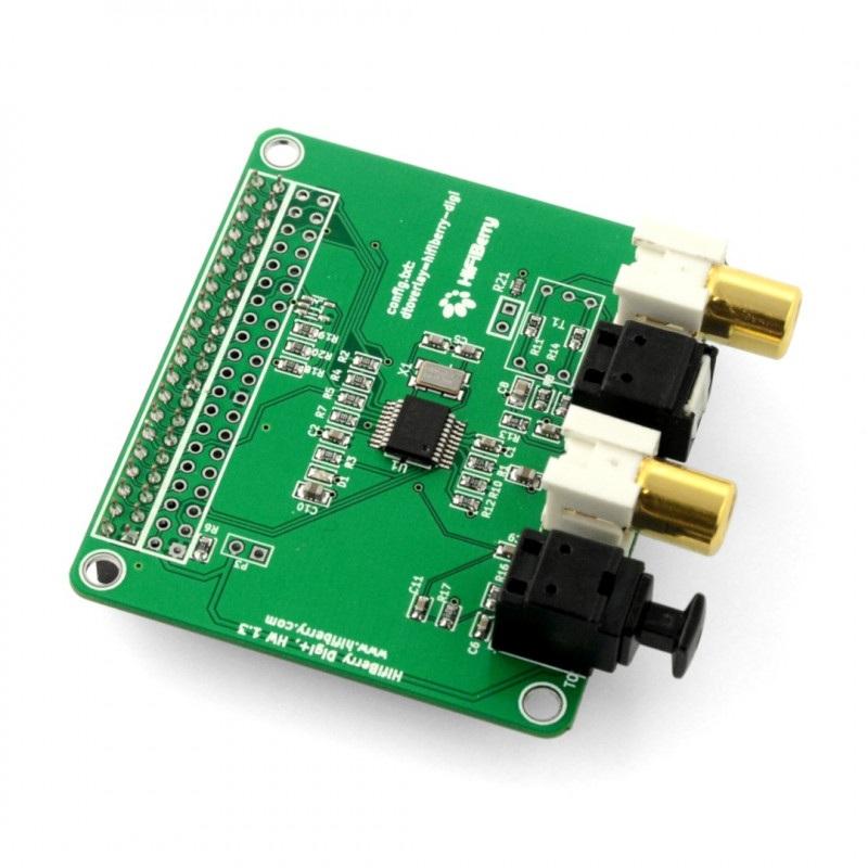 Digi+ I/O - karta dźwiękowa do Raspberry Pi 3/2/B+/A+