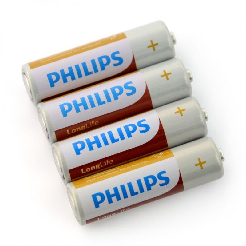 Bateria AA (R6) PHILIPS LongLife - 4szt.