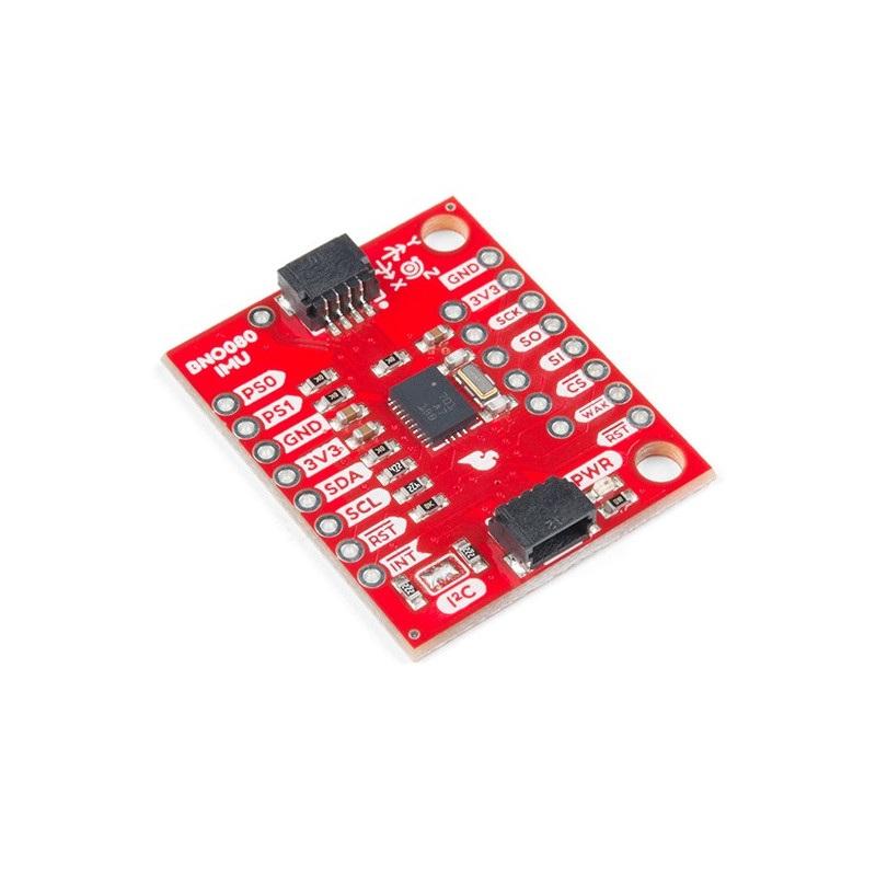 SparkFun BNO080 VR IMU 9DoF - 3-osiowy akcelerometr, żyroskop i magnetometr I2C/SPI/UART
