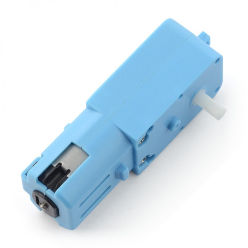 Silnik DC z przekładnią 1:90 3-6V z pojedynczym wałem - plastik