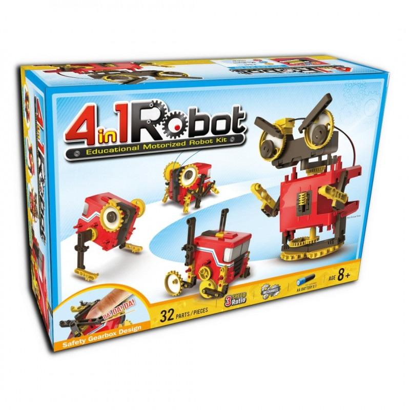 Robot 4 w 1 - Educational motorized robot kit