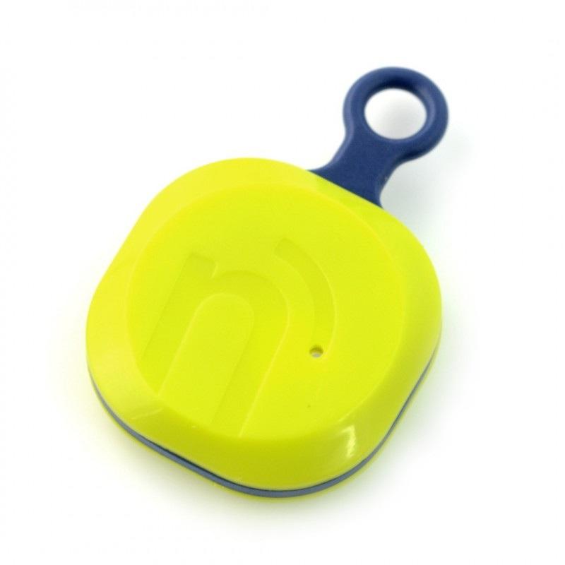 NotiOne Play - lokalizator Bluetooth z buzzerem i przyciskiem - limonkowy
