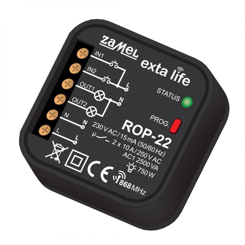 Exta Life - Radiowy odbiornik puszkowy 2-kanałowy 230V - ROP-22