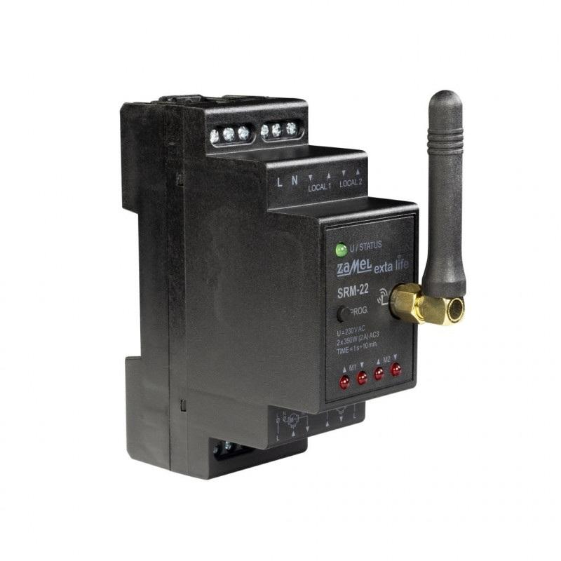 Exta Life - Sterownik rolet modułowy 2-kanałowy 230V - SRM-22