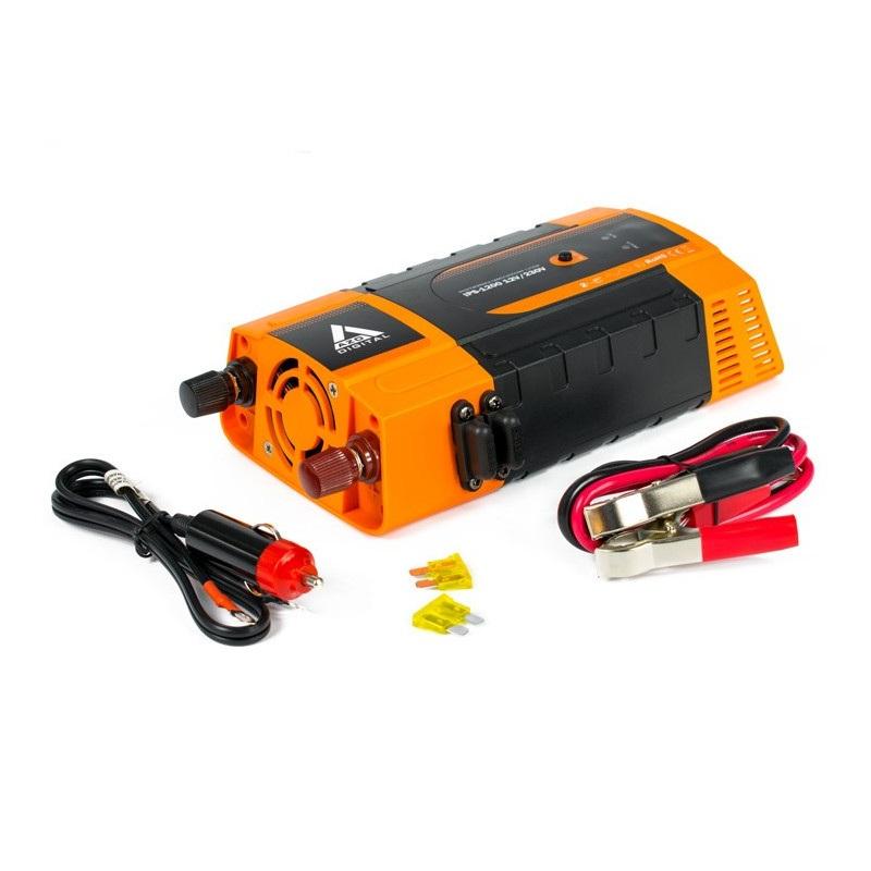Przetwornica napięcia AZO Digital 12 VDC / 230 VAC IPS-1200 1200W