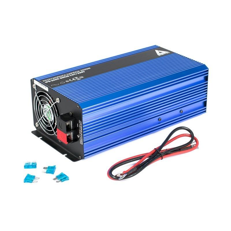 Przetwornica napięcia AZO Digital 12 VDC / 230 VAC SINUS IPS-2000S 2000W