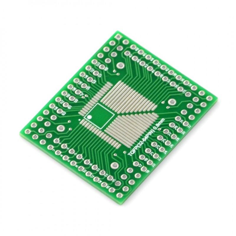 Adapter PCB - TQFP(32-64)-0,8mm - TQFP(32-100)-0,5mm