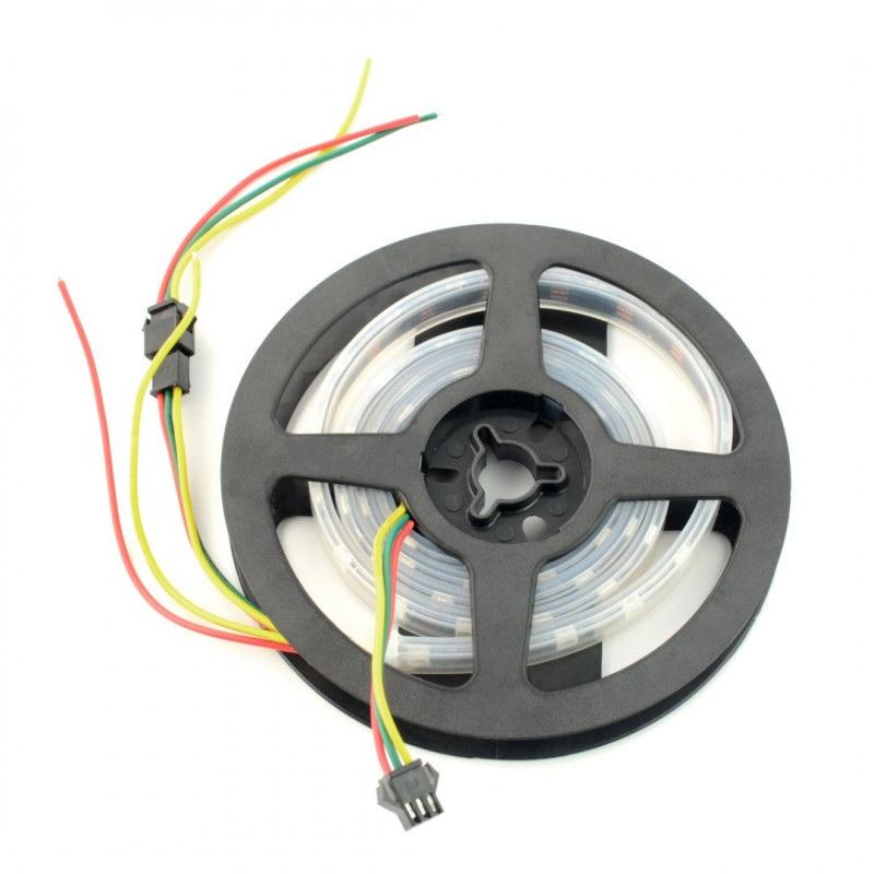 Pasek LED RGBW SJ-10060-SK6812 - cyfrowy, adresowany - IP65 60 LED/m, 14,4W/m, 5V - 1m