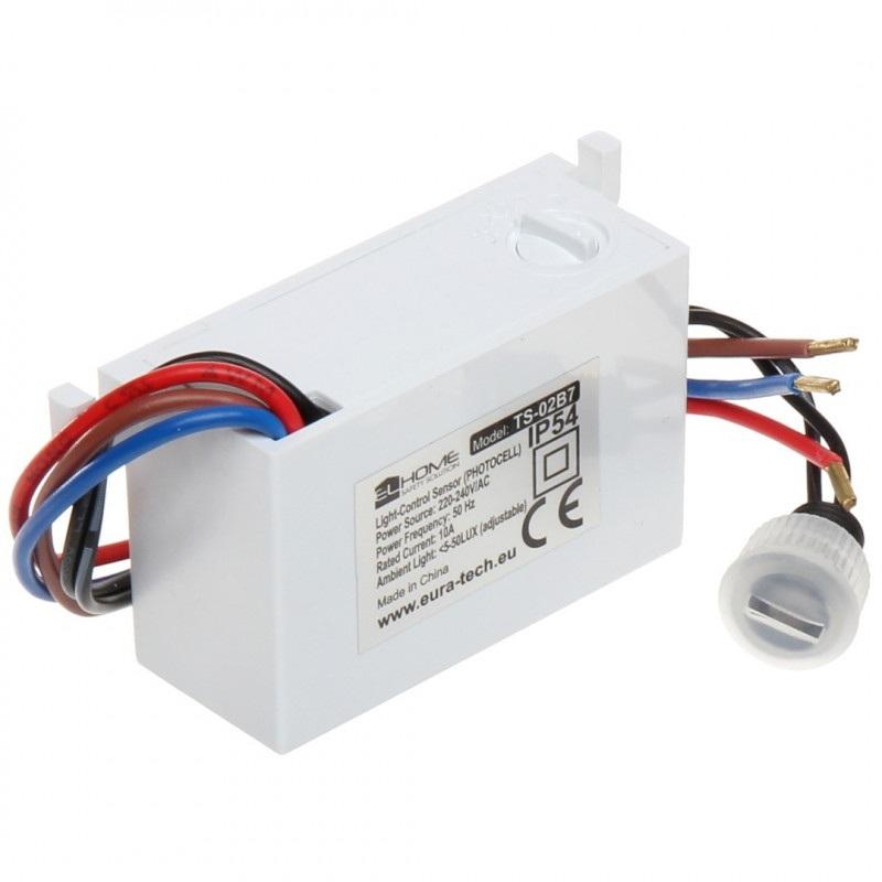 El Home TS-02B7 - Miniaturowy automat zmierzchowy 230V