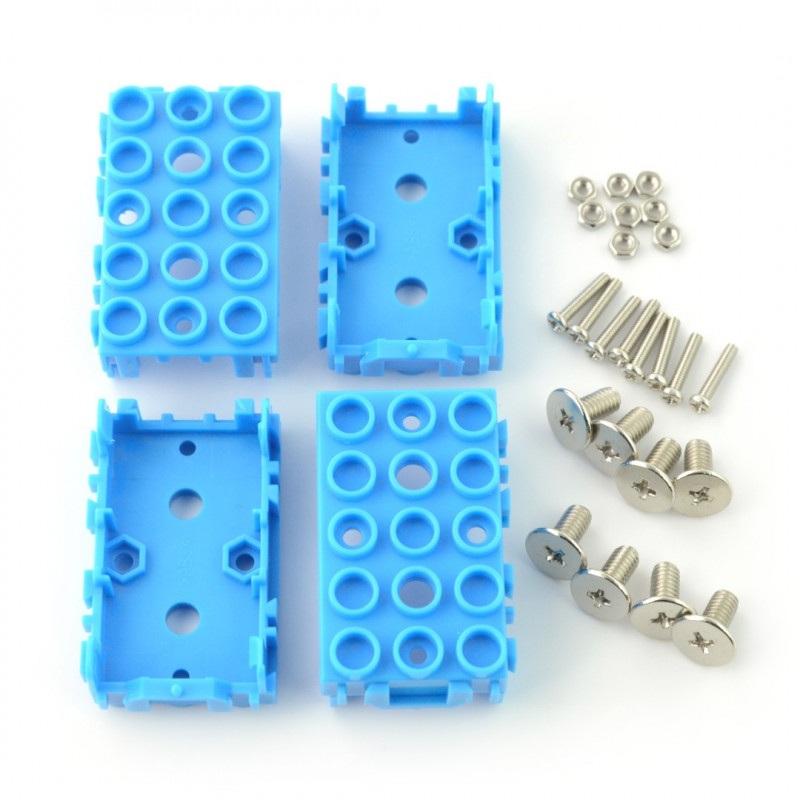 Grove - osłona modułów 1x2 4-pak - niebieska