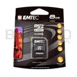 Karta pamięci EMTEC micro SD / SDHC 8GB klasa 4 z adapterem