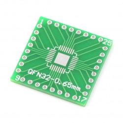 Adapter PCB - QFN32/QFP32 na DIP
