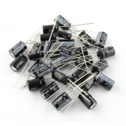 Zestaw kondensatorów elektrolitycznych - 120 szt.