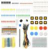 Zestaw elementów elektronicznych + płytka stykowa - AM402 - 96 elementów - zdjęcie 1