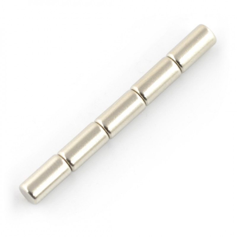 Magnes neodymowy walcowy - 5x10mm - 5szt.