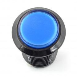 Arcade Push Button 3,3cm - czarny z niebieskim podświetleniem