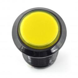 Arcade Push Button 3,3cm - czarny z żółtym podświetleniem