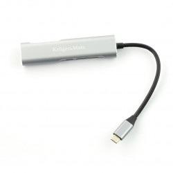 Adapter (HUB) USB typu C na HDMI / USB 3.0 / SD / MicroSD / C port