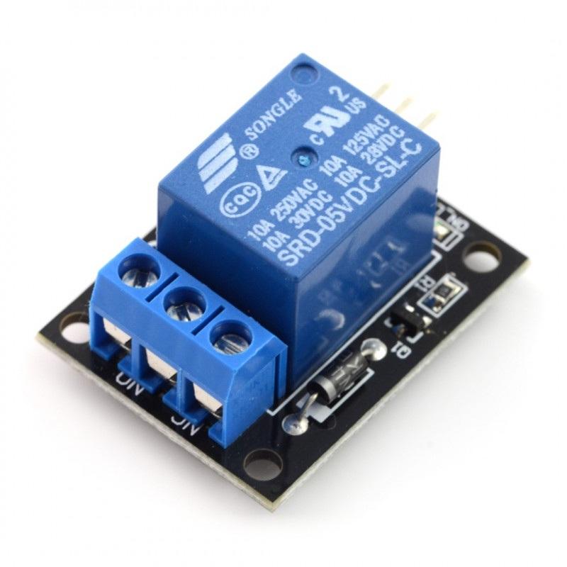 Moduł przekaźnika bez izolacji optoelektronicznej 5V 10A/125VAC