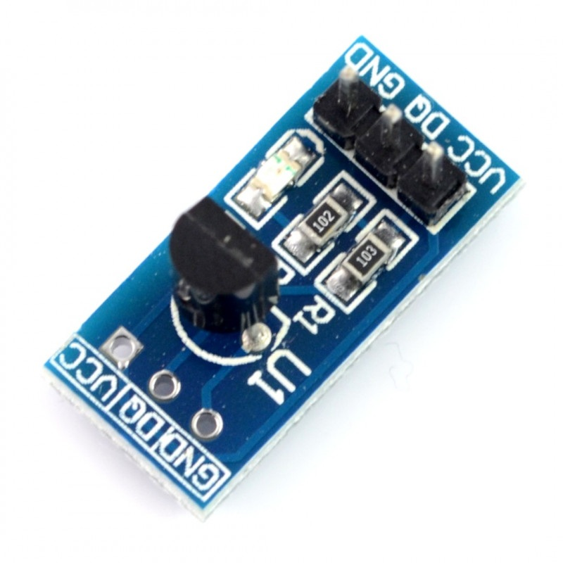 Moduł z czujnikiem temperatury DS18B20+