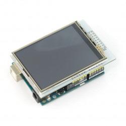 Wyświetlacz dotykowy TFT LCD 2,8'' 320x240px z czytnikiem microSD - nakładka na Arduino
