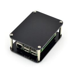 Obudowa do Raspberry Pi Model 2B/B+ otwarta czarna