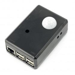 Obudowa czarna do RaspberryPi i czujnika ruchu PIR SPI-BOX