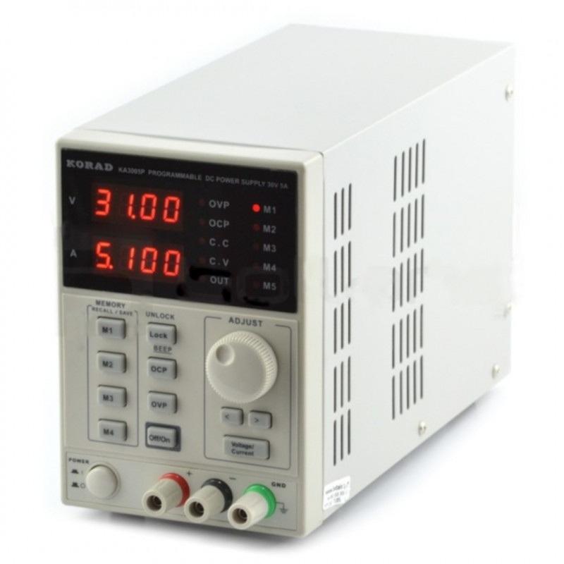 Zasilacz laboratoryjny Korad KA3005P 0-30V 5A