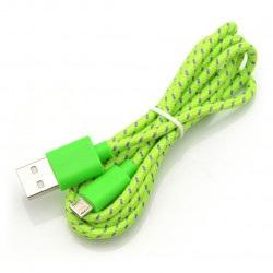 Przewód microUSB B - A w zielonym oplocie EB175GP - 1m