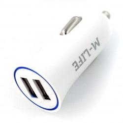 Ładowarka samochodowa M-life 5V/2.1A 2 x USB