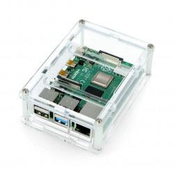 Obudowa Raspberry Pi Model 4B - przezroczysta - LT-4B18