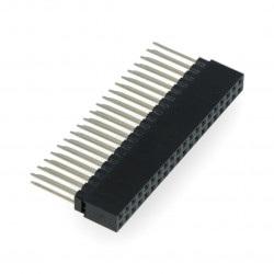Gniazdo żeńskie 2x20 raster 2,54mm dla Raspberry Pi 3/2/B+ - długie piny 12mm