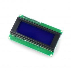 Wyświetlacz LCD 4x20 znaków niebieski + konwerter I2C dla Odroid H2