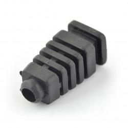 Odgiętka na przewód czarna fi 5mm