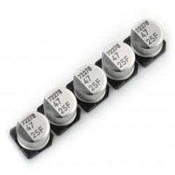 Kondensator elektrolityczny 47uF/25V SMD - 5 szt.