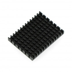 Radiator 40x30x5mm dla Raspberry Pi 4 z taśmą termoprzewodzącą - czarny
